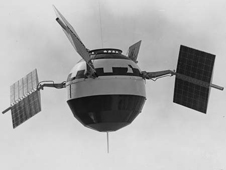 The Pioneer V spacecraft.