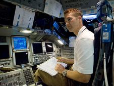 JSC2009-E-207326 -- STS-131 Pilot James Dutton
