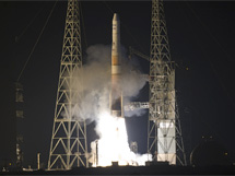 Liftoff of the Delta IV rocket carrying the GOES-P satellite