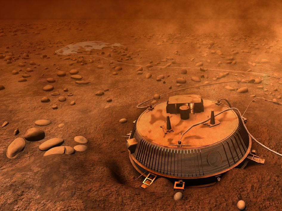 Huygens probe on Titan
