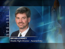 Bryan Lunney, Shuttle Flight Director - Ascent/Entry