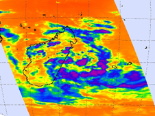 AIRS image of System 90S in the Southern Indian Ocean