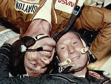 Astronaut Donald K. Slayton and cosmonaut Alexey A. Leonov