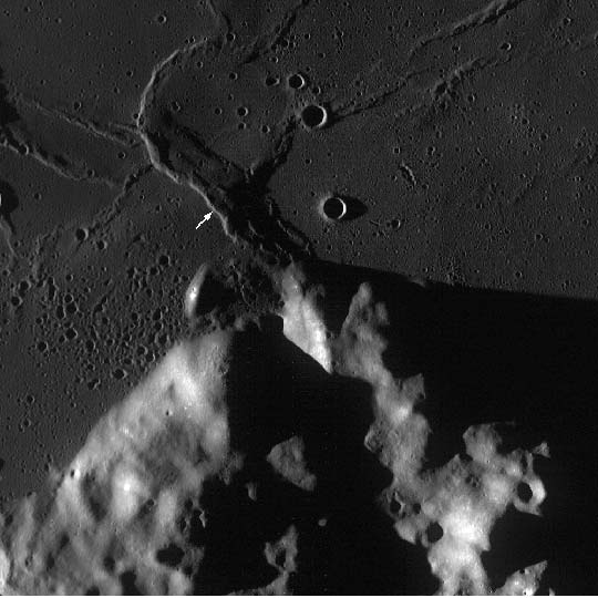A WAC monochrome image centered on the Crisium region of interest.