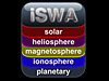 iSWA logo with the words solar, heliosphere, magnetosphere, ionosphere and planetary