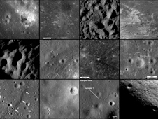 Montage of images visualized from the datasets of the instruments on LRO