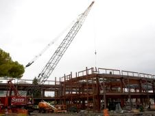 The final beam was placed as the building, called Sustainability Base, reached its height and completed its skeletal structure.