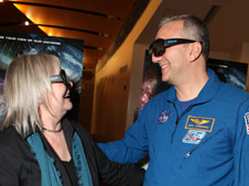 Director/Producer of Hubble 3D Toni Myers and STS-125 astronaut Mike Massimino