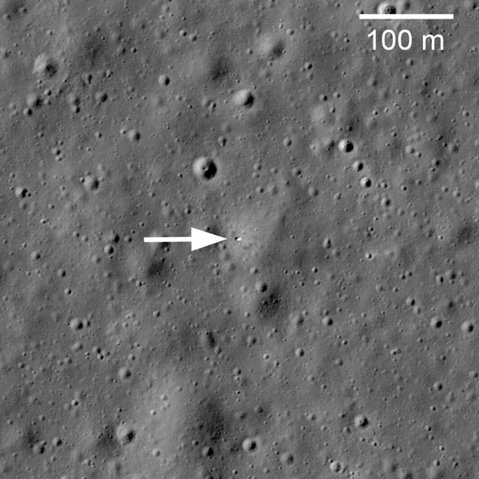 LROC image of Luna 17 from orbit