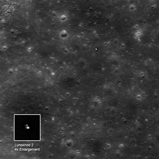 LROC image of Lunokhod 2 from orbit