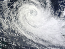 MODIS image of  Tropical Cyclone Ului (20P) in the Coral Sea