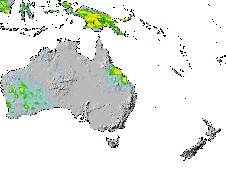 TRMM data was used to create this image of precipitation from March 15-22 in Australia.