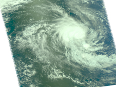 This NASA Aqua image confirmed that 21S is a compact storm, about 90 miles in diameter.