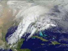 This is a still from the movie of GOES satellite imagery compiled from February 1-16, 2010 when 2 blizzards hit the Baltimore/Washington, D.C. area