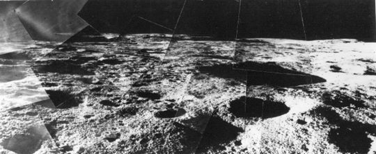 lunar panorama taken by Surveyor 6