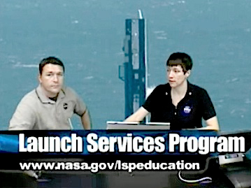 Christopher Blair, left, and Rachel Power during LSP launch webcast