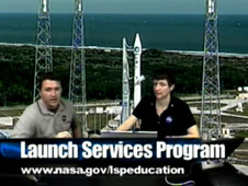 Screen shot from a live launch webcast