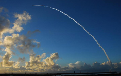 Liftoff of an expendable launch vehicle
