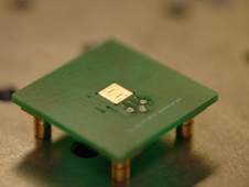 The micro-electric sensor flush mounted into a printed circuit board package
