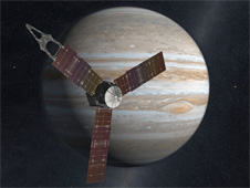 Artist's rendering of the Juno spacecraft