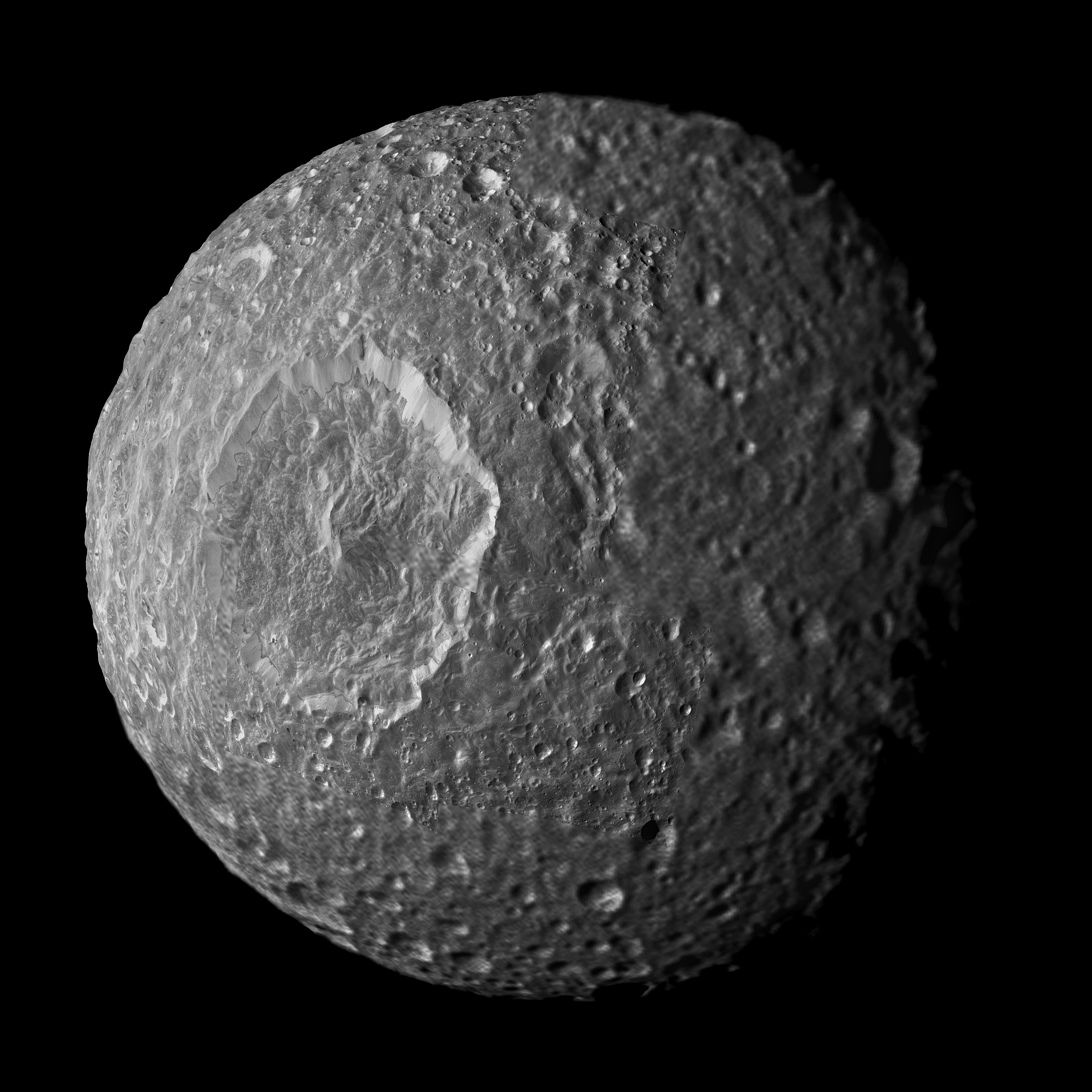Nasa Streaks And Markings On Mimas