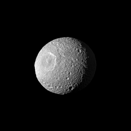 Mimas three-quarter portrait