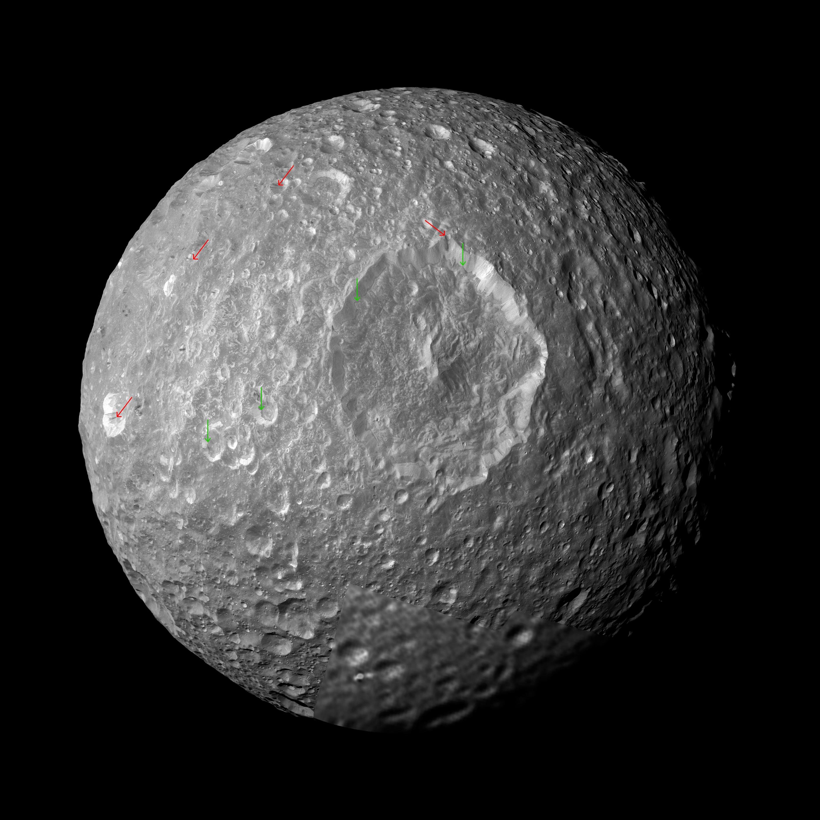 Nasa Examining Herschel Crater