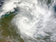 NASA's MODIS captured Tropical Cyclone Paul (22P) approaching the coast in the Northern Territory of Australia.