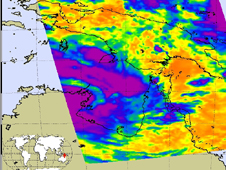 This infrared image fromMarch 29 shows that Paul was a little more organized and appears more circular.