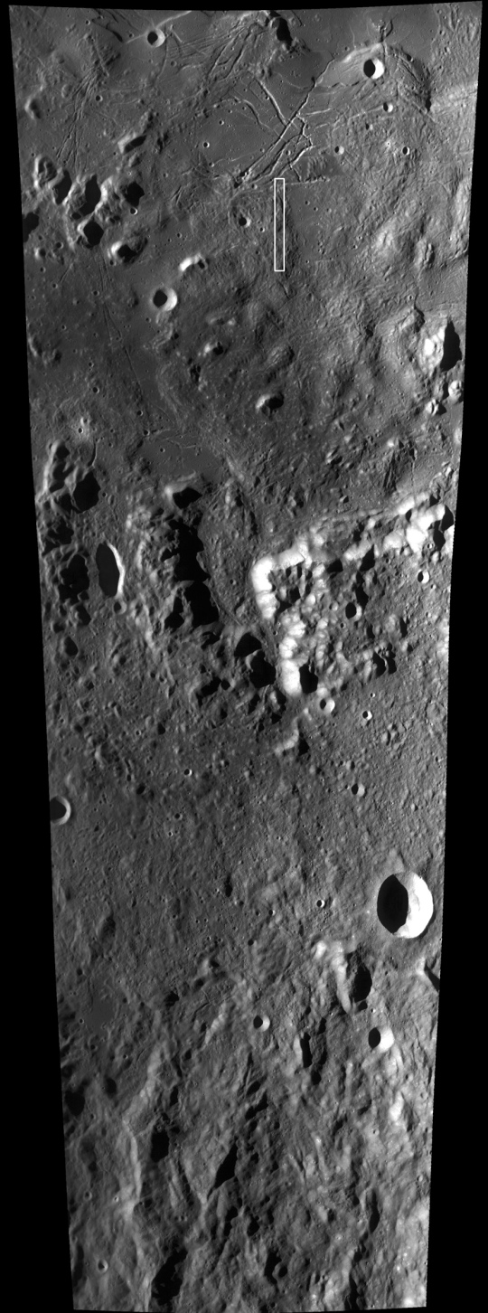 an LRO map showing the context of the Mare Orientale