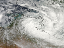NASA's MODIS instrument captured this image of Tropical cyclone Paul near Australia's Northern Territory on March 30.