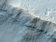 portion of the floor in Palos Crater on equatorial Mars