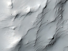 Color image near a Martian hill