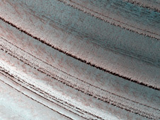north polar layered deposits on Mars