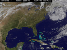 GOES image of eastern United States