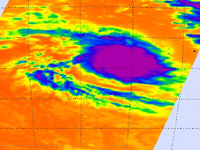 Thermal image of tropical storm Robyn