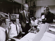Mission Control Center during the Apollo 13 emergency return.