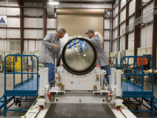 JSC2009-E-150043 -- Orion's Abort Motor and Adapter Cone Assembly