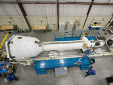JSC2009-E-228145 -- Orion's Pad Abort-1 test vehicle