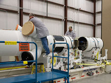 JSC2009-E-241272 -- Pad Abort-1 flight test vehicle