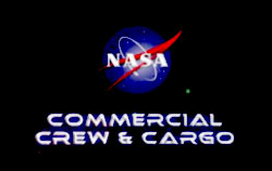 NASA Logo and Commercial Crew & Cargo Text