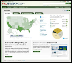 Screenshot of USASpending.gov