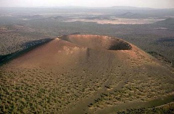Sunset Crater National Monument in Flagstaff, Arizona.
