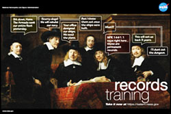 Photo of an Ad for Records Management