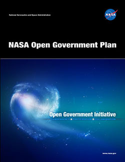 Image of the cover of the NASA Open Government Plan