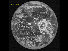 NOAA's newest Geostationary Operational Environmental Satellite – GOES-15 – took its first full-disk visible image of the Earth on April 6 at 17:33 UTC (1:33 p.m. EDT).