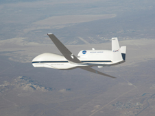 Global Hawk aircraft in flight