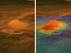 Surface warmth on a Venus volcano