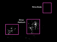 lunar map of  Sinus Aestuum and Rima Bode