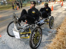A team competes in the 2010 Great Moonbuggy Race.